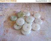 20% OFF ON SALE Pale Jade Disk 10mm, 8 pcs, Gemstone Beads