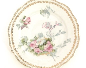 Antique O & E G Royal Austria Small Dish with Rose Pattern (DB1)