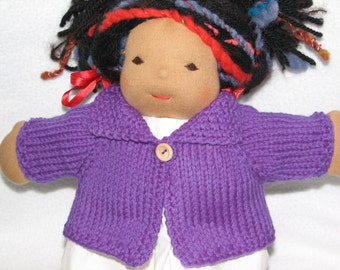 Doll Sweater for 13 inch Doll in Purple Wool RTG