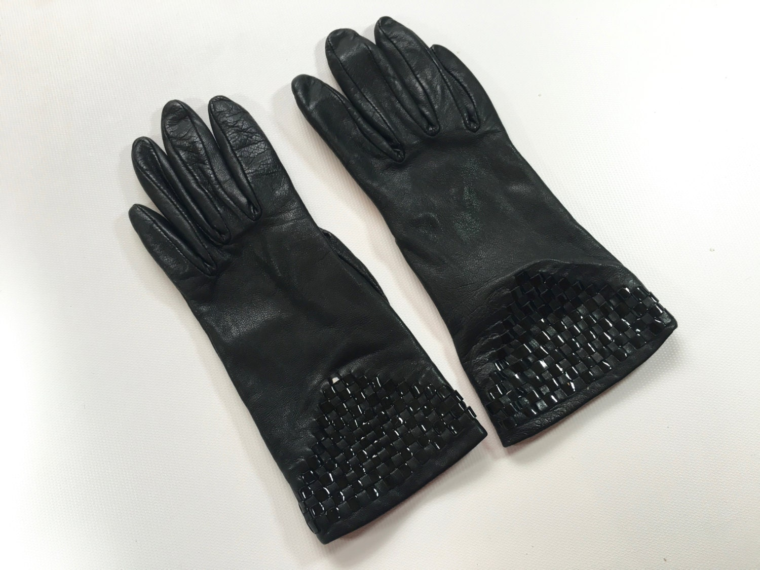 Black patent leather gloves - Black Patent Leather Gloves 21