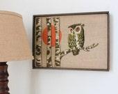Vintage Embroidered Owl