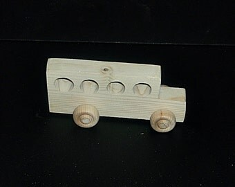 Birthday Party Pack  20 Handcrafted Wood Toy School Buses BP-11BH-U unfinished or finished