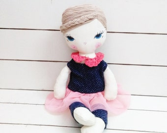 Ballerina -handmade fabric doll- cloth doll- OOAK