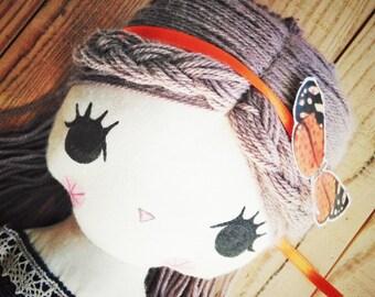 Little girl -handmade fabric doll- cloth doll- OOAK