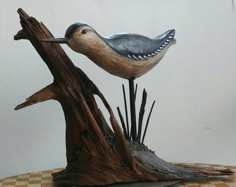 hand sculpted polymer clay decorative bird