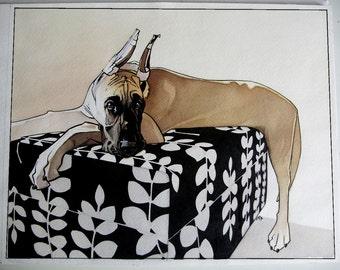 11x14 Custom Watercolor Pet Animal Portrait