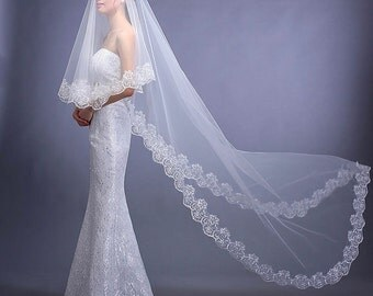 Bridal Cathedral Veil, Bridal Mantilla Veil