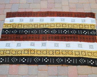 """African Mud Cloth 42""""x65"""""""