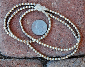 African Silver Bicone Beads: (3x3mm)
