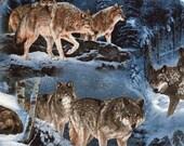 Wolves in Winter - David Textile - Fat Quarter