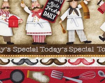 Buon Appetito Chef Stripe - Elizabeth Studios - 1 Yard Plus