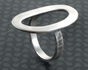 Circle  Sterling Silver Ring - Doors of Perception, Open Eternity Ring, Cocktail Ring , Statement Ring , Handmade Jewelry