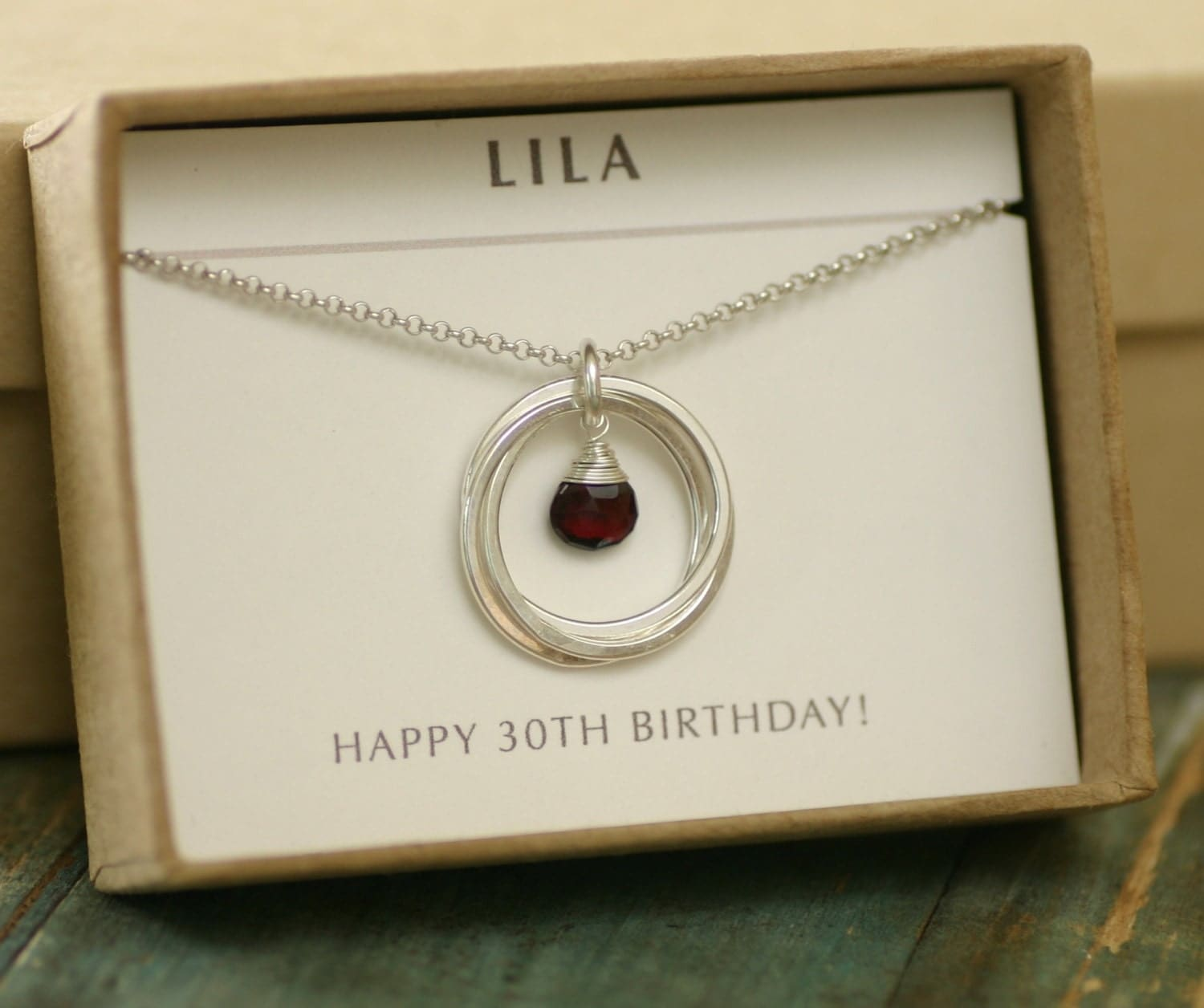 30th Birthday Gift For Her Garnet Necklace For Sisters 3