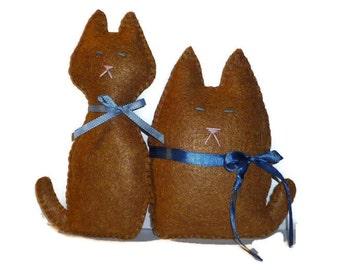 cat stuffed animal fat fatty and skinny gift