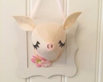 Little piggy faux taxidermy
