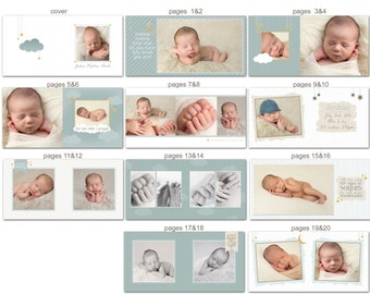 Baby Album template for Photographers  - Joshua - 1021FA