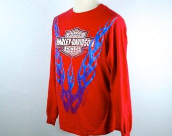 Long Sleeve Harley Davidson T-shirt // Chicks of Harley Davidson // Easy Rider Biker // Albuquerque, NM // Land of Enchantment