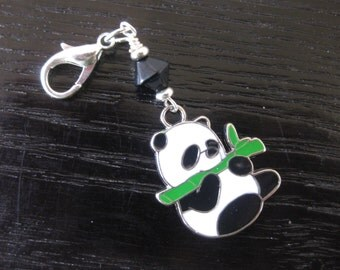 Pandamania with Bamboo Zipper Pull Purse Charm