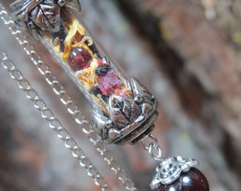 Confidence  Spell Bottle Capsule Pendant, Confidence Necklace for Inner Strength, Promote Belief in Oneself, Will Power Talisman, Witchcraft