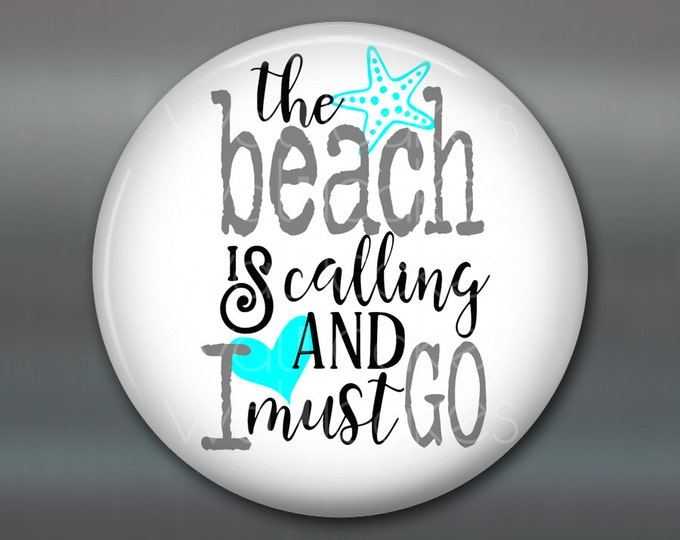 "3.5"" beach themed gifts -  kitchen decor sayings - beach lover quotes - beachy quotes housewarming gift - beach cottage decor - MA-WORD-3"