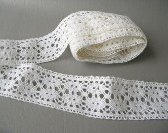 Vintage Cotton Lace Trim, Yardage