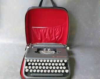 Vintage Typewriter Smith Corona Skywriter, Skywriter, gray, small, portable, manual, working