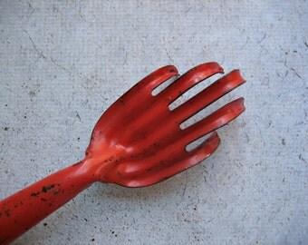 Vintage Orange Garden Claw