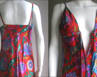 70s vintage psychedelic dress