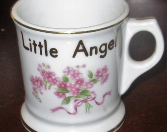 Precious Vintage Porcelain Child Cup Little Girl Roses Mug, Made in Occupied Japan/Home and Living/Home Decor/Collectible Mug or Cup