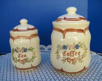 Weiss Vintage Canisters, Coffee and Tea Canisters