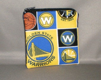 Warriors - Coin Purse - Small Padded Zippered Pouch - Mini Wallet - Basketball - Golden State Warriors