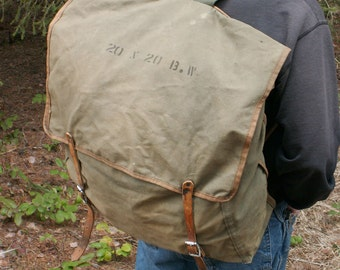 Large 20x20 Canvas Backpack Rucksack F O Berg CO
