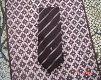 Vintage Christian Dior Classic Striped Brown Necktie  - Sharp as a Tack