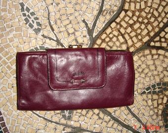 Vintage John Weitz Ladies Chocolate Brown Leather Wallet