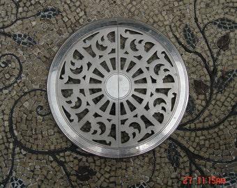 Vintage Round Silver Plate Expandable Trivet/Hot Plate - Manning-Bowman & Co.