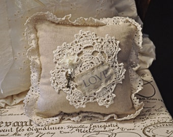 Love doily pillow