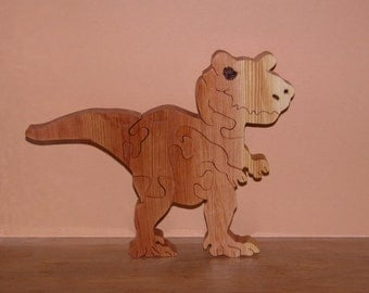 Toy for Child - Wooden Dinosaur Puzzle - Child's Decor - Kids Toy