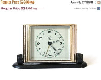 25 OFF SALE Vintage Russian mechanical alarm clock Slava from Soviet Union Rare pioneer