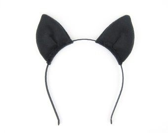 Bat Ears Headband Plush Fabric Bat Ears Headband