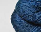 Drowning in the blue ocean  - Silk Noil Lace Yarn - LIMITED EDITION