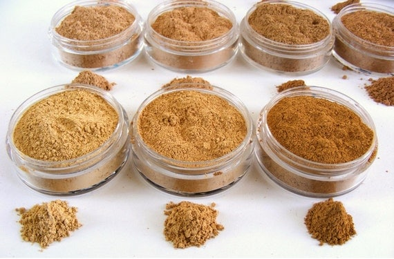 Mineral Foundation, Mineral Makeup Foundation, Natural Cosmetics,  Foundation Samples - Pick 2