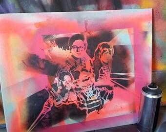2016 Ghostbusters movie fan art painting pop art stencil spray paint street art by Rainbow Alternative