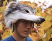 Beautiful Shaped Timber Wolf Face Mask