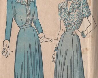 Vintage 1950's Misses' Skirt, Blouse, Short Bolero Pattern, Advance 4878