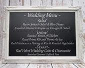 "LARGE DECORATIVE Wedding CHALKBOARDS For Sale Magnetic 44""x32"" Rustic Wedding Ivory Frame ExTRA LaRGE Chalk board Escort Card Holder"