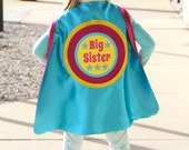 READY TO SHIP - Big Sister or Big Brother Superhero Cape - Sibling gift - big brother gift - new baby - Ships Fast