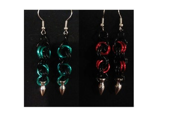 Chainmaille Spike Earrings