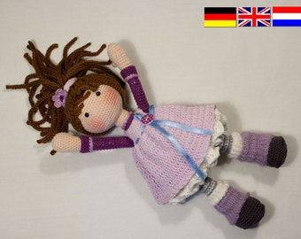 Crochet pattern for doll MIA (Deutsch, English, Nederlands)