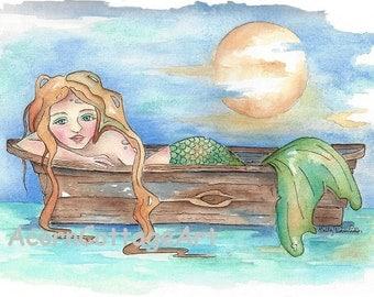 Selene.. mermaid art print