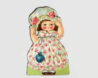 Antique Valentine, Vintage Valentine's Card, Mechanical Valentine, German Valentine